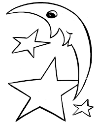 Easy Shapes Coloring Pages Free Printable Moon Ahd Stars Featuring Pre K And Primary