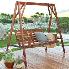 Wooden Porch Swings 5 Ft Wood Porch Swing With Stand With Oil