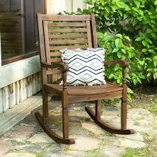 Dark Brown Acacia Wood Patio Rocking Chair Pier 1 Porch Rocking ...