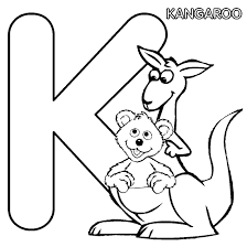 Letter K Baby Bear Coloring Pages
