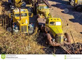 100 Salvage Trucks Vintage Large In Yard Stock Image Image Of Large