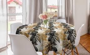 abakuhaus tischdecke kreis tischdecke abdeckung für esszimmer küche dekoration vintage botanik up kakaobohnen kaufen otto