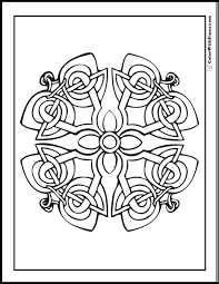 Celtic Coloring Pages At ColorWithFuzzy Decorative Cross Designs