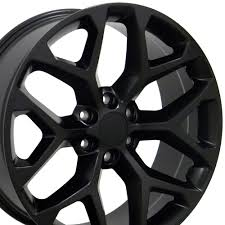 20x9 Rim Fits GM Trucks GMC Sierra Style Satin Black 20