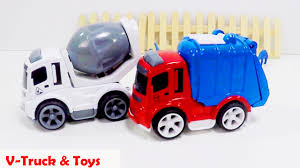 Cement Mixer Toy & Garbage Truck, Kid Playing With Trucks, Concrete ... Garbage Truck Wash Car Youtube Trucks Youtube Videos Blue Dumping Dumpster Police Mixer For Children Coche Color Learning For Kids Video Dump Toy Tonka Picking Up Trash L Rule Bruder Ambulance Toy Bruder Children The Song By Blippi Songs