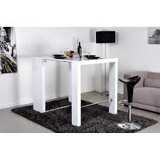 table haute alga extensible blanc laqué