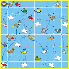 Board Game With Birds And Planes