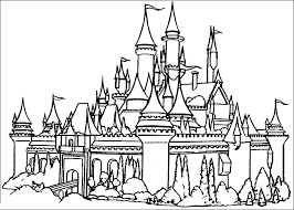 Beautiful Castle Coloring Pages Princess