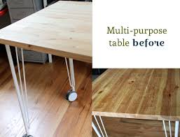 Ikea Desk Tops Uk by Diy Painted Table Project Before And After Ikea Tables