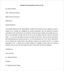 27 Re mendation Letter Templates – Free Sample Example Format