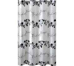 Black And White Flower Shower Curtain by Shower Curtains U2014 Bath U2014 For The Home U2014 Qvc Com