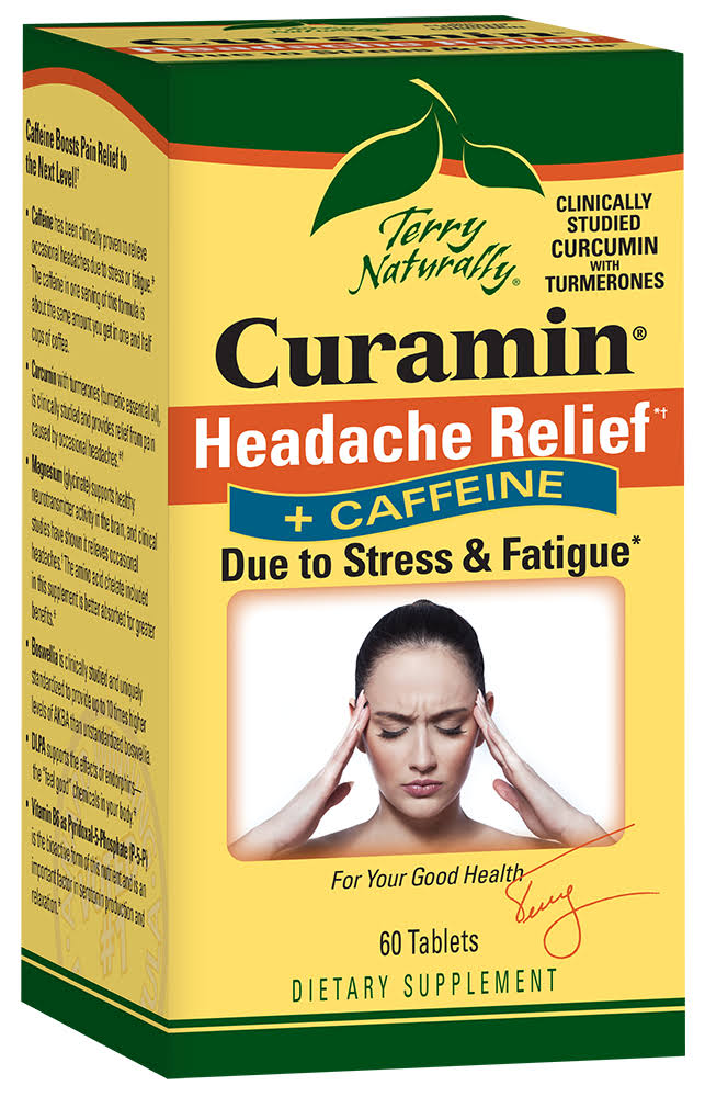 Terry Naturally Curamin Headache Relief - with Caffeine, 60ct