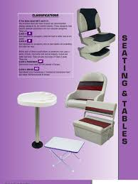 Swivel Captains Chair Boat by Cc Marine 2013 14 Catalogue Seating Upholstery Chair