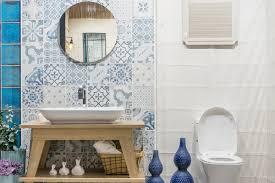 badezimmer idee mediterranes bad mit dekoration