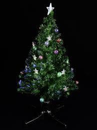 Tabletop Fibre Optic Christmas Tree by Led Bauble U0026 Star Rotating Fibre Optic Tree 1 2m Christmas
