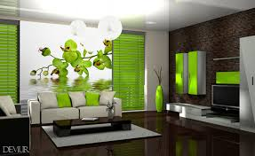 extravagante grüne orchidee fototapete fürs wohnzimmer
