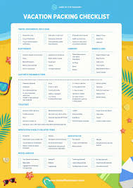 The Complete Travel Packing Checklist