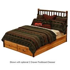 Lodge Hickory Log Platform Bed