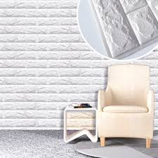 60 X 60cm PE Foam Natural Wall Stickers Patterns 3D DIY Decor Brick For Living