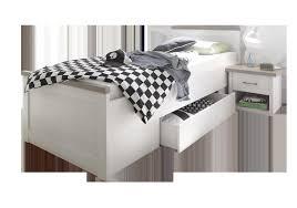 begabino komfortbett luca in pinie weiß trüffel 90x200 cm