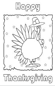 A Print And Color Thanksgiving Card