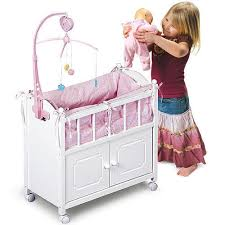 Baby Doll Crib Bed 18 Inch Dolls Nursery Furniture Mattress Toys