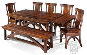Custom Built Amish Crafted Solid Character Cherry Wood BO Railroad Trestle Bridge Extension Table Chair