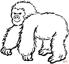 Click The Gorilla 1 Coloring Pages To View Printable Version Or Color It Online Compatible With IPad And Android Tablets