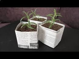 How To Make Newspaper Gardening Pots For Plant Seed Starting Step By DIY Tutorial Instructions Do Diy Crafts