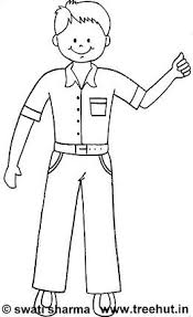 Simple Boys Coloring Pages