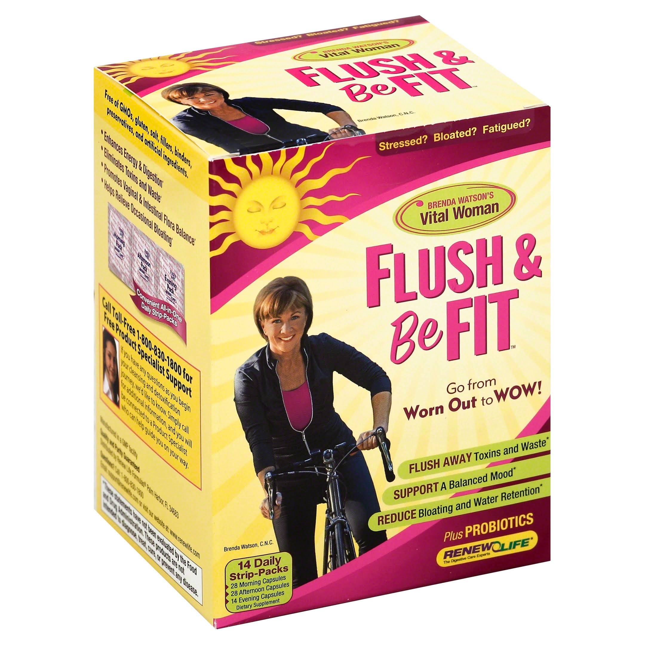 Renew Life Women's Care Flush and Be Fit 14-Day Program Daily Strip Packs - 14ct