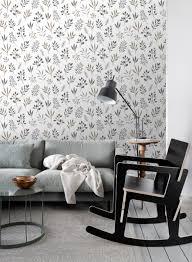 tapete blumenmuster im skandinavischen stil weiß grau und rosa esta home