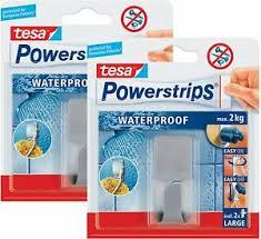 details zu tesa powerstrips waterproof haken zoom handtuchhaken badezimmer 2 haken