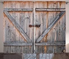 abakuhaus rustikal rustikaler vorhang amerikanischer landhausstil wohnzimmer universalband gardinen mit schlaufen und haken 280 x 245 cm grau