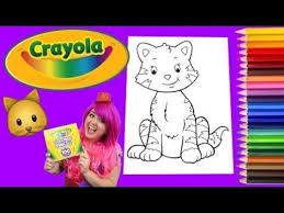 Coloring A Kitty Cat Crayola Book Page Colored Pencil