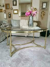 wohnzimmer tisch couchtisch messing gold glastisch