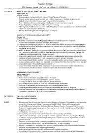 Procurement Resume Sample Free Sidemcicek Com Specialist
