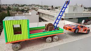 How To Make A Truck With Towing Crane Using Pencil At Home - YouTube