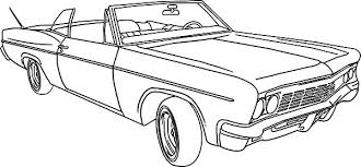 Lowrider Classic Car Nice Coloring Pages