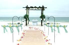 Fashionable Beach Wedding Decoration Aisle