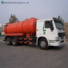 Sinotruck Sewer Suction Tanker Truck Sewage Sucking Truck For Sale ...