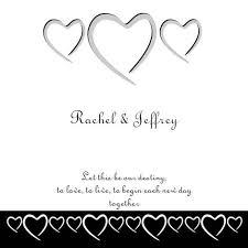 Pearl Destiny Square Vertical Invitation Hearts Of Love In Black