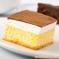 low carb kuchen mit vanillepudding und schokoglasur rezept