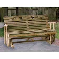 Amish Patio Glider Benches