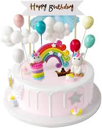 cake decorations and cake toppers einhorn tortendeko feen