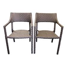 Skyline Woven Outdoor Chairs, A Pair. Original Price: $600 Outdoor Chairs 2 Pcs Teak With Parasol Hole Chbiz Company Fniture Patio Sets By Chair King Texas Rattan Ding Chair Myhexenhausco Cushions Sale Color Tedxoakville Home Design Blog Poolside Lounge Cheap On Chaise Impressive Clearance South Outstanding High Backed Wicker Backed Wicker Modernica Sebel Integra Ex Government Director Set Of Six Vintage Campaign For Tall Stackable Stacking Target Menards Modway Ding On Sale Eei3028gry Endeavor Rattan Armchair Only Only 23505 At Contemporary