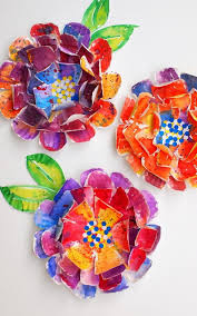 Love The Look Of Watercolor Paints And Flowers Heres A Gorgeous Easy Kids Art Project To Turn Paper Plates Into Hypercolorful Plate