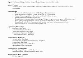 Banquet Manager Resume Sample For Housekeeping Job In Hotel Awesome
