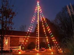 Glen Tonnies Flagpole Christmas Tree
