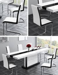 4er set design esszimmerstuhl st 555 weiß schwarz freischwinger schwingstuhl stuhl